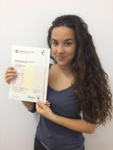 """LAURA I've just got my FCE certificate! Finally, all my effort has paid off. After studying for years and years, last 9th of July I took my first ever official exam and it went surprisingly well. At first we were all nervous, but after finishing the """"Grammar and use of English"""" part, it all went smooth and nice. From my point of view, the exam that we took that day, was easier than the ones that we were doing at class with Irene, and the examiner from the speaking part, was very nice in comparison of what we expected. The atmosphere there was very professional, and at the end of the day we all felt like we had passed the exam, and we were right! It's very important to have a certificate which proves that you have a good level of the language, and it's also helpful when finding a job. Huge thanks to Isa and Irene for making me love English and also for helping me throughout my journey. TIP: Don't be afraid of taking official exams, just be sure you are ready enough and you'll get through it easily."""