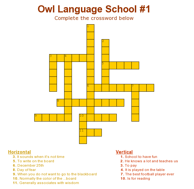 crossword-Owl#1